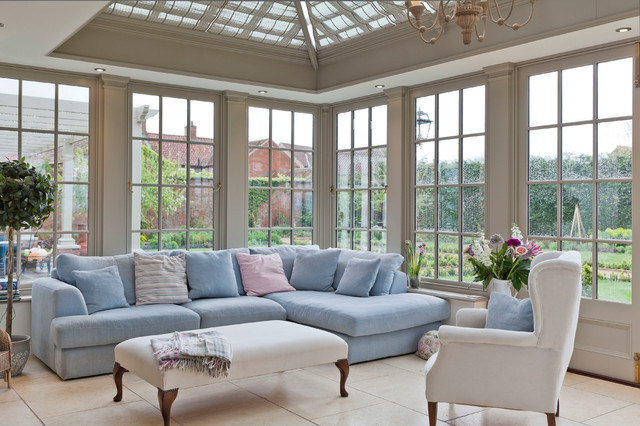 Inspiration for a large classic conservatory in Other with a glass ceiling.