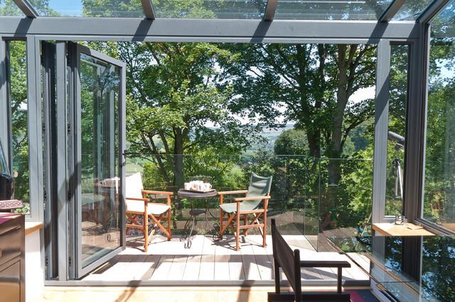Architectural Aluminium Conservatory Frameless Glass