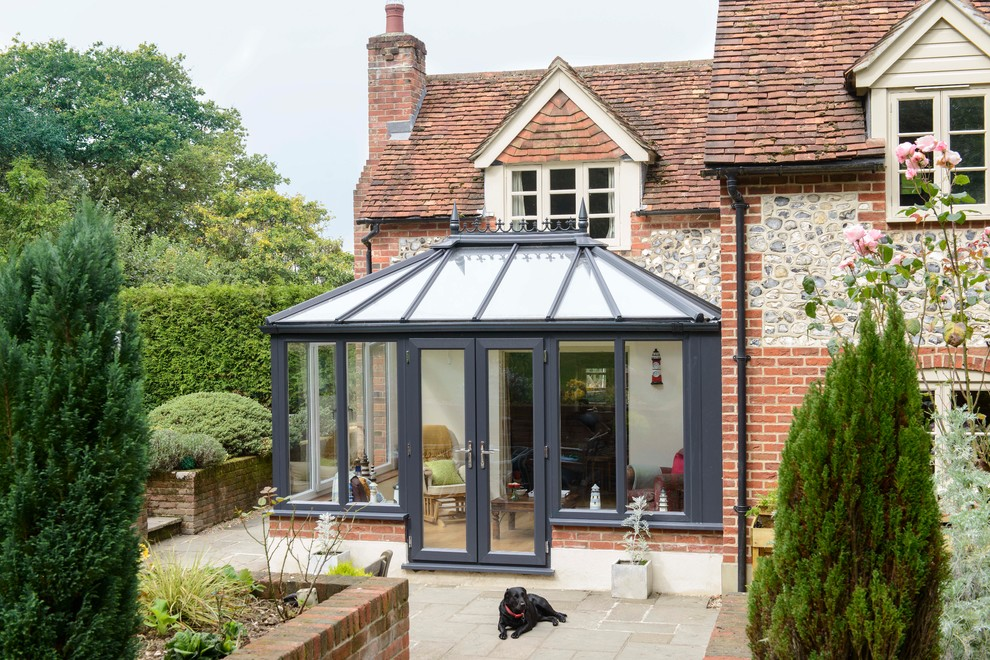 Edwardian Conservatory In Hampshire Traditional Sunroom Other By Anglian Home Improvements