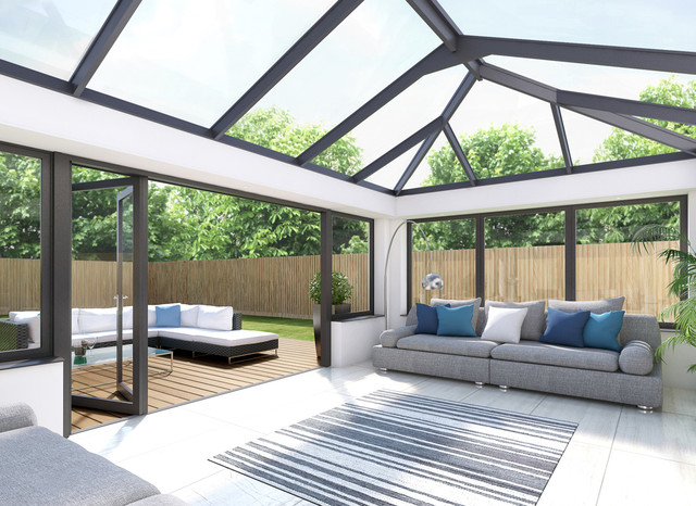 Hehku Aluminium Roof Lanterns Modern Sunroom Sussex