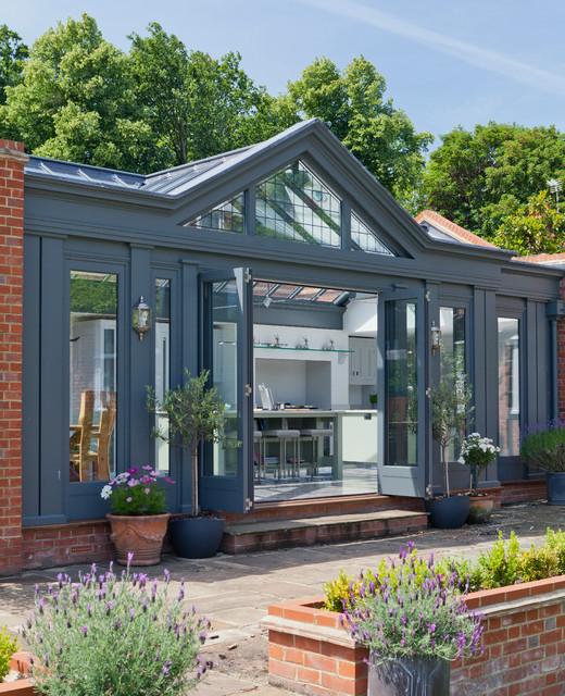 large kitchen conservatory contemporary conservatory. Black Bedroom Furniture Sets. Home Design Ideas