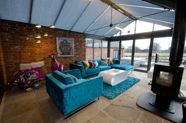 Design ideas for a contemporary conservatory in West Midlands.
