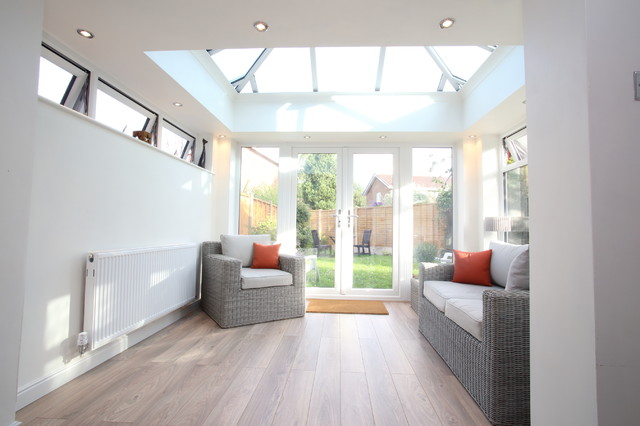 Open plan kitchen extension orangery for Berkeley extension interior design