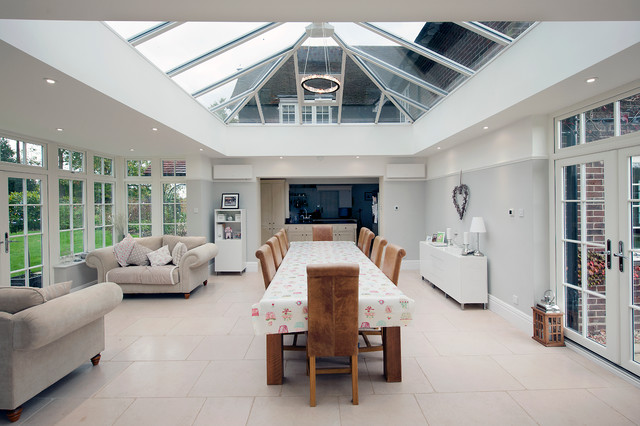Orangery And Kitchen Extension Contemporary Sunroom