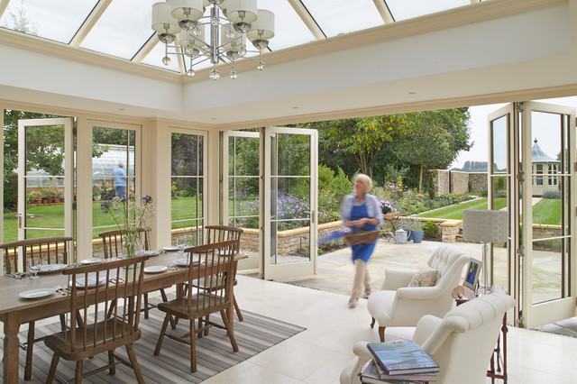 Orangery With Bifold Doors Traditional Conservatory