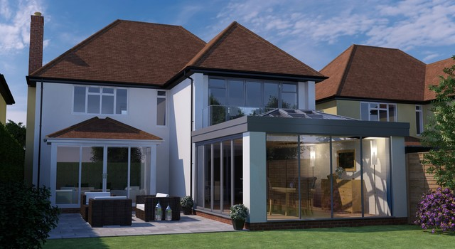 Qks home improvements limited contemporary sunroom for Contemporary home improvements