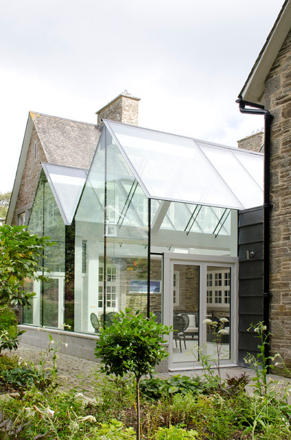 Structural Glass Conservatory, Cornwall - Contemporary - Sunroom