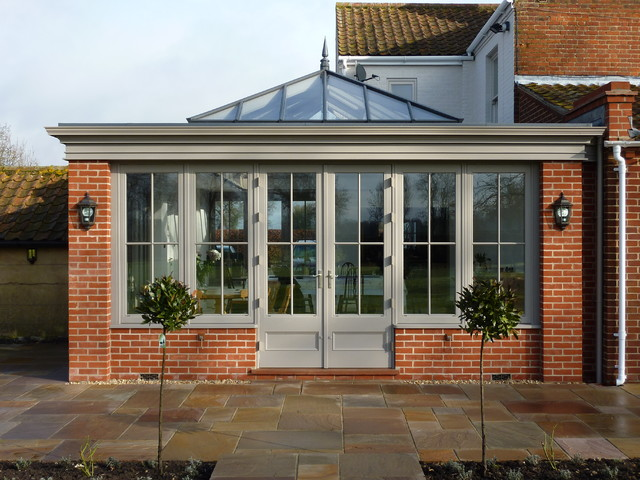 Stunning Orangery With Roof Lantern Joinery And Fascia In