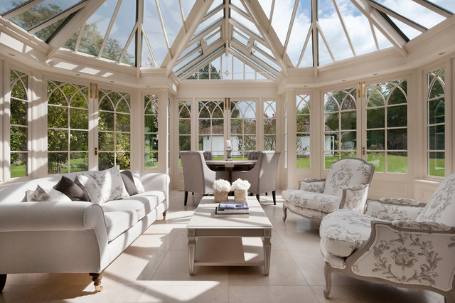 Styled in Abinger traditional-conservatory