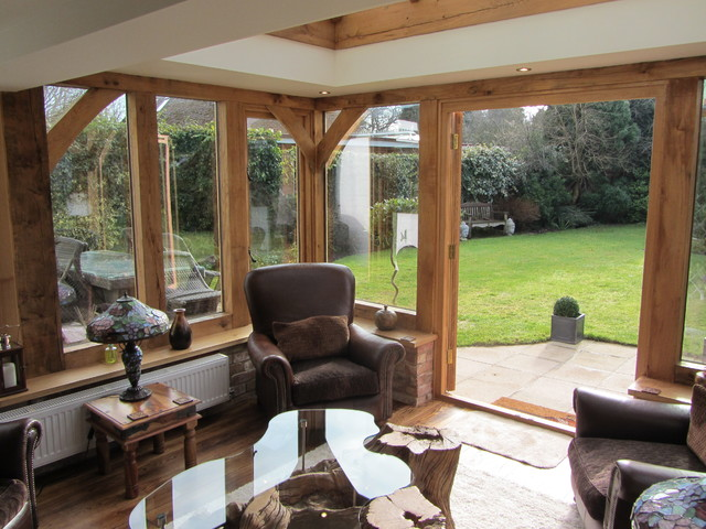 Replacement Of Existing Conservatory With Oak Framed