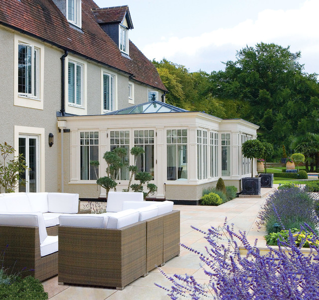 White Conservatory Traditional Sunroom Other By