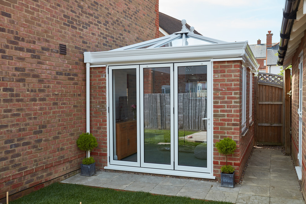 White Upvc Orangery In Kent Contemporary Sunroom Kent By Anglian Home Improvements