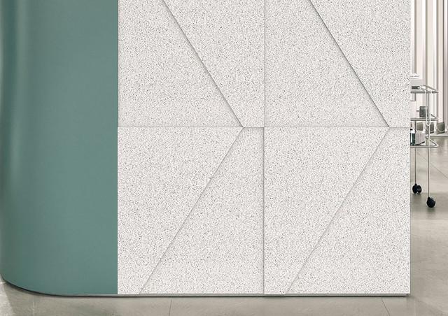 Corian Solid Surface Domino Terrazzo Modern Hall Delhi
