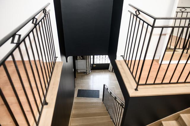 Aménagement d\'une cage d\'escalier et d\'un palier ...