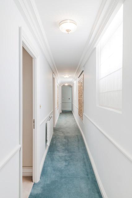 Appartement de luxe triangle d 39 or paris traditional hall paris by bush architecture - Appartement hal ...