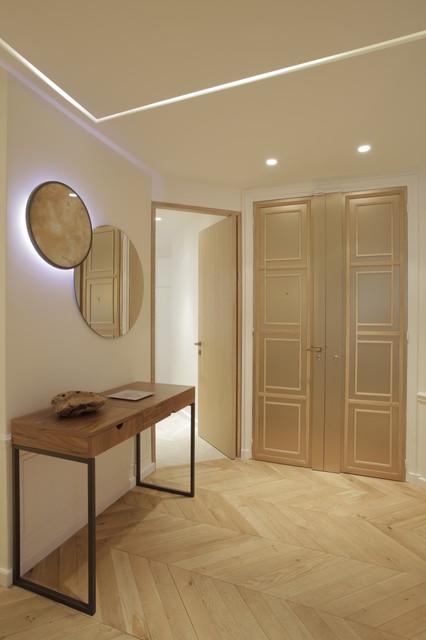 blvd Haussmann 18e - Contemporary - Hall - Paris - by Sarah ...