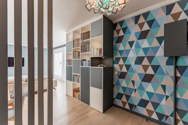 Design Int Rieur D 39 Un Appartement De 140 M2 94 Contemporain Couloir Paris Par Dovan