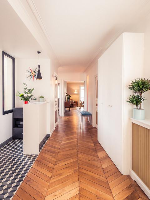 Grand appartement haussmannien 180m2 - Mid-Century - Flur ...