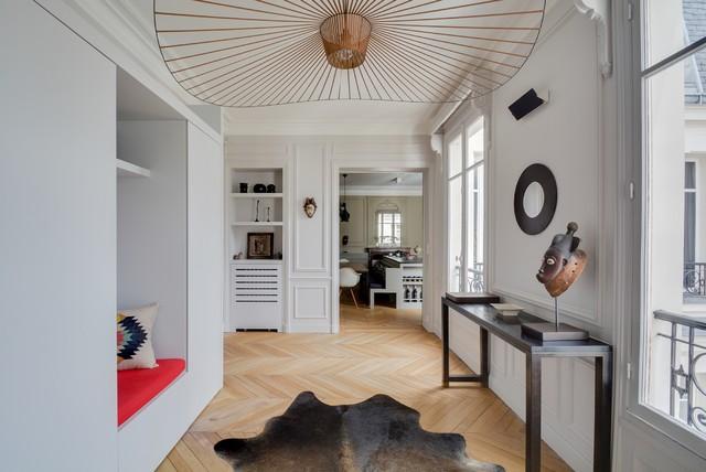 Grand appartement parisien refait neuf for Appartement parisien decoration