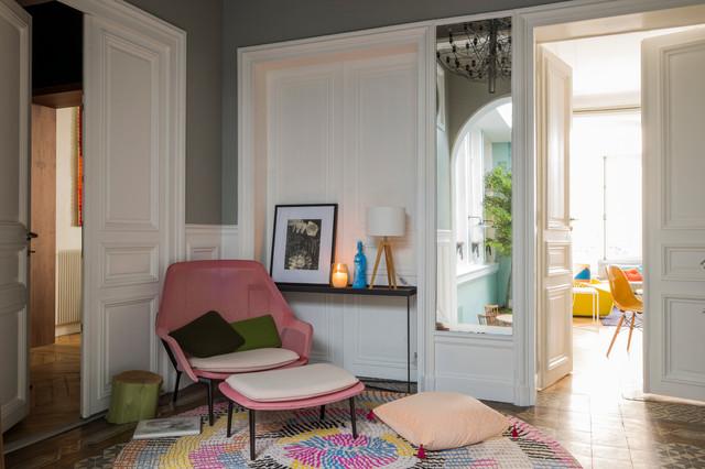 hotel particulier classique chic couloir paris par agence v ronique cotrel. Black Bedroom Furniture Sets. Home Design Ideas