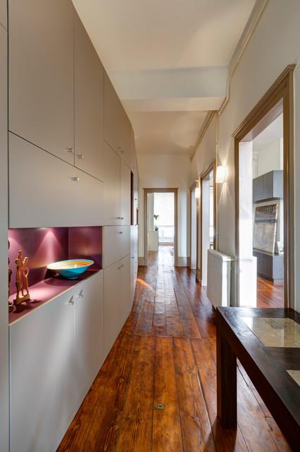 r novation appartement ancien dans la ville de bordeaux contemporary hall bordeaux by. Black Bedroom Furniture Sets. Home Design Ideas