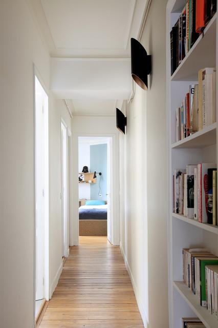 R novation compl te d 39 un appartement haussmannien contemporain couloi - Largeur d un couloir ...