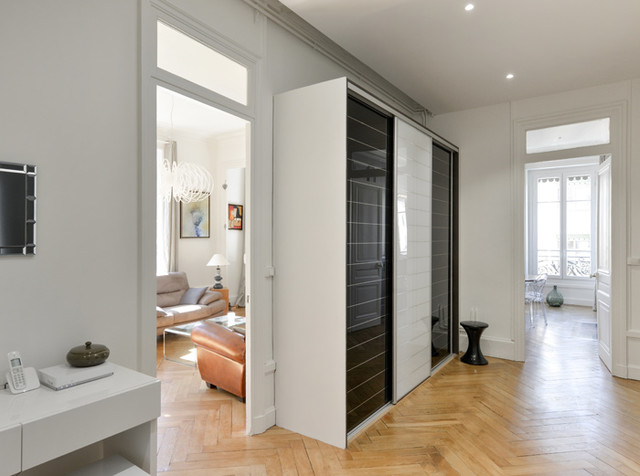 r novation d 39 un appartement haussmannien lyon 06. Black Bedroom Furniture Sets. Home Design Ideas