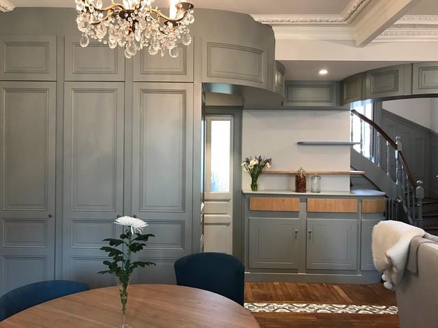 rénovation d\'une entrée et Pièce de vie - Transitional - Hallway ...