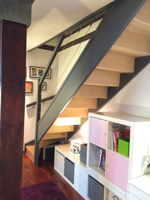 Deco escalier couloir for Couloir contemporain