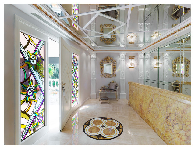 Villa dell arte luxe staff et corniches contemporary hall other metro by staff d cor for Decoration staff maison