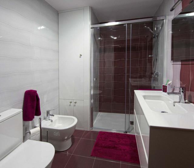 Antes y despues de un ba o contempor neo cuarto de - Fotos de cuartos de bano modernos ...