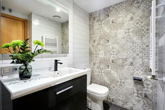 Baño Completo de Estilo Contemporáneo - Contemporáneo ...