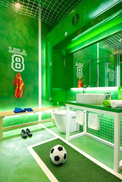 Baño juvenil en microcemento - Ecléctico - Cuarto de baño - Madrid ...