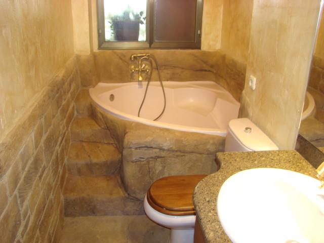 bao rustico rustico cuarto de bano