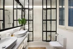 Más vale una imagen…: 14 bonitos baños alicatados en blanco