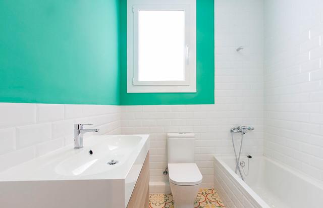 Reforma calle caspe shabby chic style bathroom - Reformas barcelona low cost ...