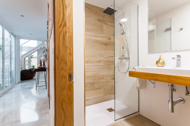 Rehabilitación apartamento doble altura con patio - Nórdico - Cuarto ...
