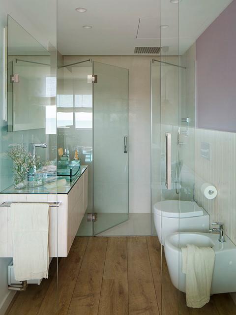 VIVIENDA CASTELLDEFELS - Contemporáneo - Cuarto de baño ...