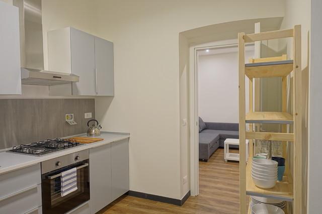 appartamento per studenti contemporaneo-cucina