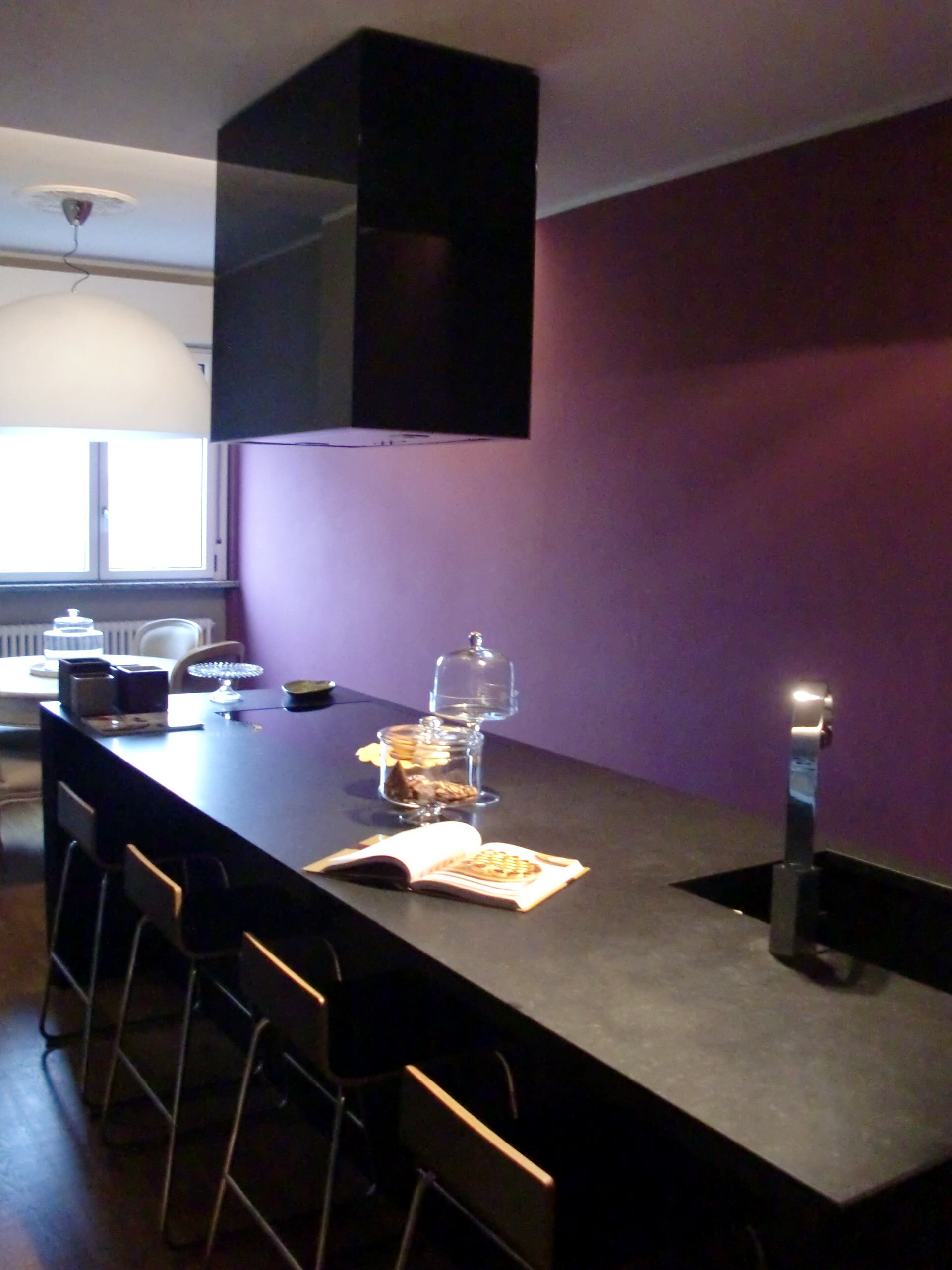 75 Beautiful Purple Kitchen With Black Cabinets Pictures Ideas April 2021 Houzz
