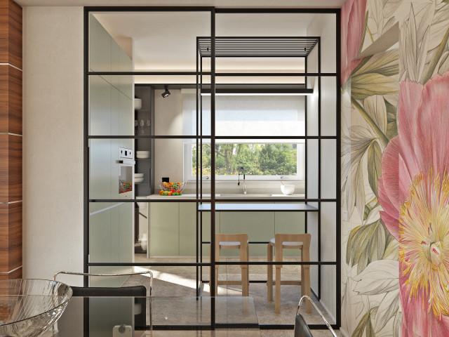 Cucina Con Pareti Vetrate Scorrevoli Modern Kitchen Milan By Andrea Vertua Architetto