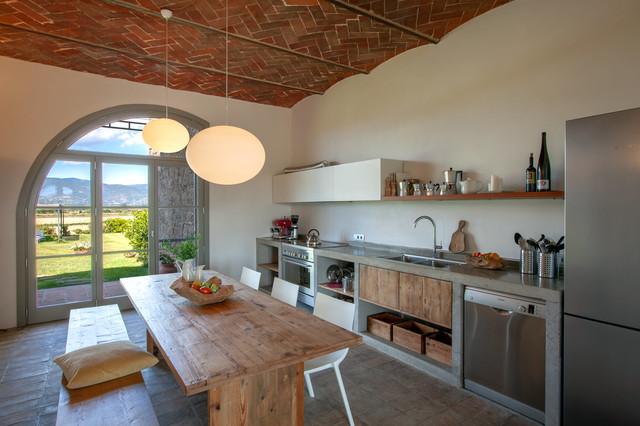 Cucina e sala da pranzo @ Podere 500. - Mediterran - Küche ...
