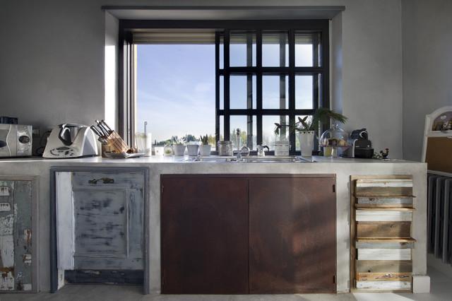 Cucina legno di recupero e muratura   shabby chic style   kitchen ...