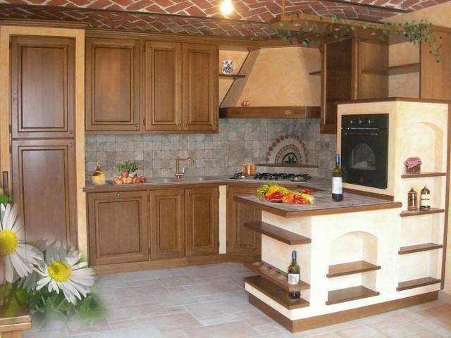 Cucine rustiche piastrellate o in muratura   in campagna   cucina ...