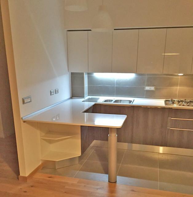 Dalla progettazione alla realizzazione cucina angolo con for Cucina ad angolo con penisola