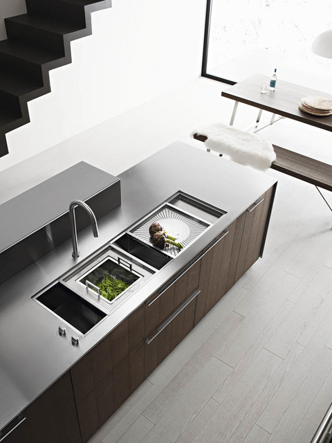 Kalea cognac rough oak modern kitchen other metro for Cesar arredamenti spa
