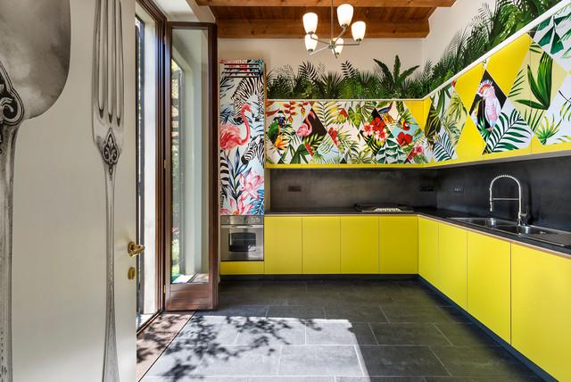 la giungla in cucina contemporary kitchen milan by. Black Bedroom Furniture Sets. Home Design Ideas