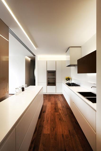 Loft A contemporaneo-cucina