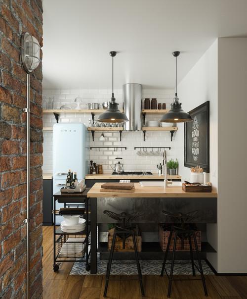 Vintage Loft Kitchen: 「サブウェイタイル」を使うとインテリアがこれだけ変わる!
