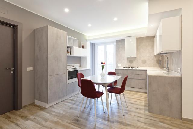 Mv house contemporaneo cucina milano di gruppo tre architetti